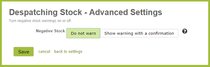 DespatchingStockAdvancedSettings